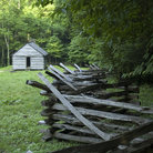 Picture - Fence leading to Jim Bales cabin in Great Smoky Mountains National Park.