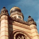 Picture - Byzantine-Moorish style Great Synagogue (1854-59) by Ludwig Forster stands in Budapest.