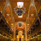 Picture - Interior of Great Synagogue in Budapest.