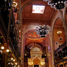 Picture - Interior of the Great Synagogue in Budapest.