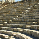 Picture - The ancient Theatre in Ephesus.