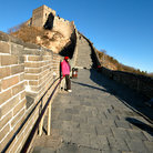 Picture - Visitor on the Great Wall of China.