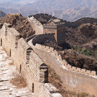 Picture - Great Wall of China rolling through the Mountains.