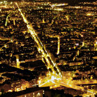 Picture - Night view over the city of Grenoble.