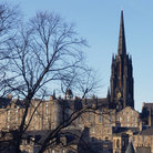 Picture - View from the Greyfriars graveyard in Edinburgh.
