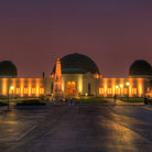 Picture - Night view of the Griffith Observatory in Griffith Park.