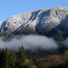 Picture - View of Grouse Mountain outside Vancouver.