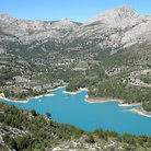 Picture - View over the Guadalest Reservoir.