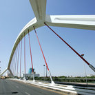 Picture - Modern bridge in Guadalquivir.