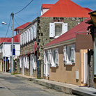 Picture - Buildings along a street in Gustavia.