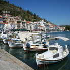 Picture - Boats at Gythion Harbor.