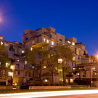 Picture - Habitat '67 at night in Montreal.