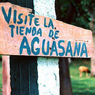 Picture - Sign welcomes visitors to Hacienda Aguasana pools.