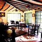 Picture - Dining room of Hacienda Bukare and Cacao Plantation.