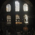 Picture - Large window in the Hagia Sophia in Istanbul.