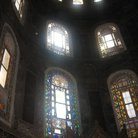 Picture - Detailed of stained glass window in Hagia Sophia in Istanbul.