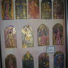 Picture - Hand painted stained glass in Hagia Sophia in Istanbul.