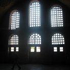 Picture - Sunlight piercing through the windows in Hagia Sophia in Istanbul.