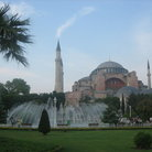 Picture - Beautiful Garden outside the Hagia Sophia in Istanbul.