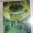 Picture - Early painting of the interior of Hagia Sophia in Istanbul.