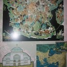 Picture - Drawing of the old Istanbul the Byazntine World in Hagia Sophia in Istanbul.