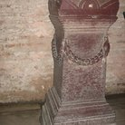 Picture - Marble column in the Museum in Hagia Sophia in Istanbul.