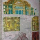 Picture - Early drawing of Ayasofya Hagia Sophia in Istanbul.