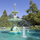 Picture - The Peacock Fountain in Hagley Park, Christchurch.