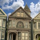 Picture - Victorian house in Haight Ashbury district in San Francisco.