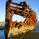 Picture - Peter Iredale Shipwreck, Fort Stevens, Oregon.