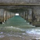 Picture - Pier tunnel on Hanalei Bay, Kauai.