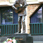 Picture - Memorial to Hank Williams in Montgomery.