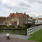 Picture - Lift bridge in Enkhuizen.