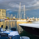 Picture - Dining tables along the port of Naples.