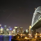 Picture - Night view of Sydney harbor bridge.