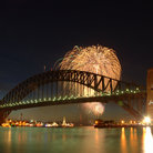 Picture - Fireworks over the Sydney Harbour Bridge.