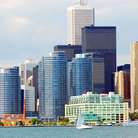 Picture - Full view of the Harbourfront in Toronto.