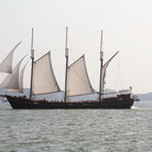 Picture - Sailing ship at the Harbour in Toronto.