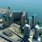 Picture - Aerial view of Toronto Harbour.