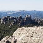 Picture - The view from Harney Peak of the Black Hills of South Dakota.