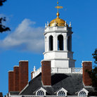 Picture - Rooftop of Quincy House at Harvard University, Cambridge, MA.
