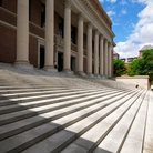Picture - Steps leading to Widener Library at Harvard University.