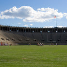 Picture - Harvard Stadium in Cambridge, MA.