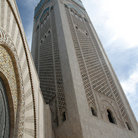 Picture - Tower at the King Hassan II Mosque in Casablance.