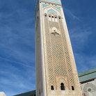 Picture - King Hassan II Mosque tower in Casablanca.