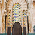 Picture - Ornate doorway at Hassan II Mosque in Casablanca.