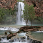 Picture - Havasu Falls on the Havasupai Indian Reservation.