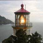 Picture - The beacon at Heceta Head lighthouse.