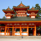 Picture - Heian-jingu Shrine built for the 1100th anniversary of the founding of Kyoto, in 1895.