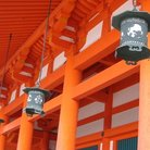 Picture - Lantern detail on the Heian-jingu Shrine, Kyoto.